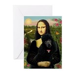 Mona / Std Poodle (bl) Greeting Cards (Pk of 20)