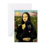 Black poodle card Greeting Cards