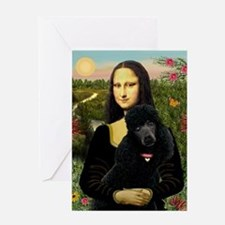 Mona / Std Poodle (bl) Greeting Card
