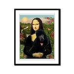 Mona / Std Poodle (bl) Framed Panel Print