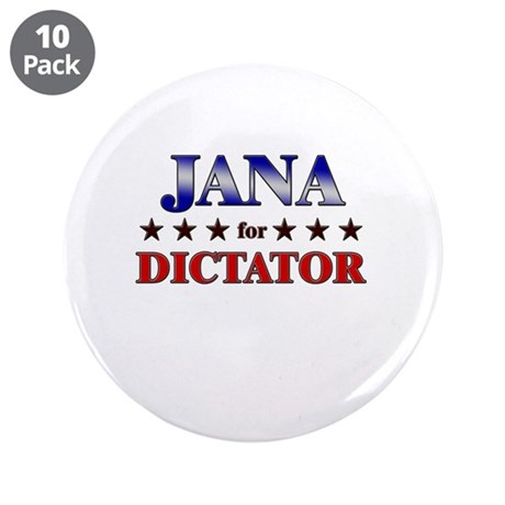 """JANA for dictator 3.5"""" Button (10 pack)"""