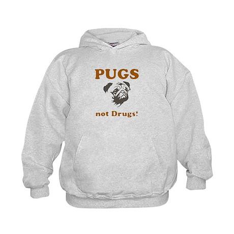 Pugs not drugs Kids Hoodie