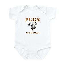 Pugs not drugs Onesie