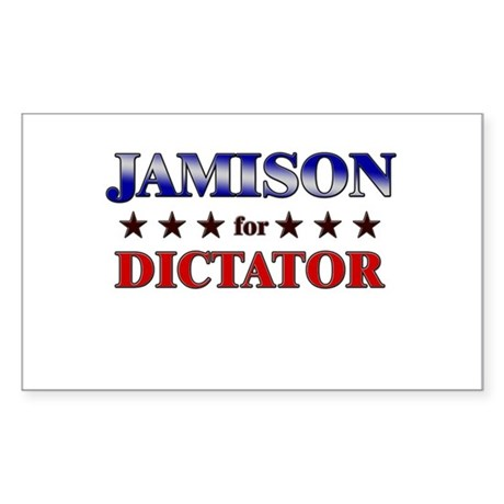 JAMISON for dictator Rectangle Sticker