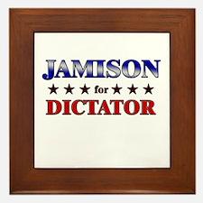 JAMISON for dictator Framed Tile