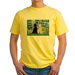 Bridge / Std Poodle (pr) Yellow T-Shirt