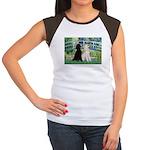 Bridge / Std Poodle (pr) Women's Cap Sleeve T-Shir