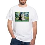 Bridge / Std Poodle (pr) White T-Shirt