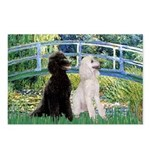Bridge / Std Poodle (pr) Postcards (Package of 8)