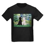 Bridge / Std Poodle (pr) Kids Dark T-Shirt