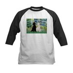 Bridge / Std Poodle (pr) Kids Baseball Jersey