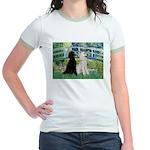 Bridge / Std Poodle (pr) Jr. Ringer T-Shirt