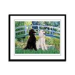 Bridge / Std Poodle (pr) Framed Panel Print