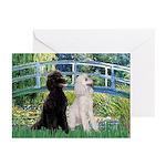 Bridge / Std Poodle (pr) Greeting Cards (Pk of 10)