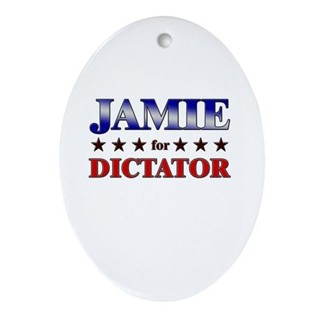 JAMIE for dictator Oval Ornament