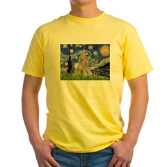 Starry / Std Poodle (s) Yellow T-Shirt