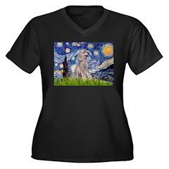 Starry / Std Poodle (s) Women's Plus Size V-Neck D