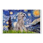 Starry / Std Poodle (s) Sticker (Rectangle)