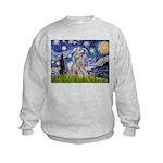Starry / Std Poodle (s) Kids Sweatshirt
