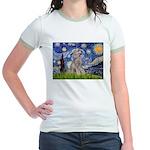 Starry / Std Poodle (s) Jr. Ringer T-Shirt