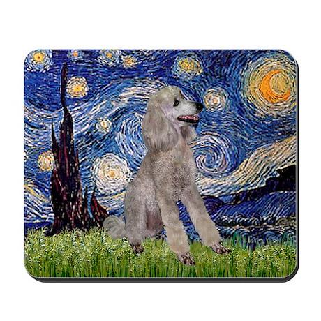 Starry / Std Poodle (s) Mousepad