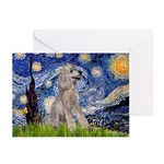 Starry / Std Poodle (s) Greeting Cards (Pk of 10)
