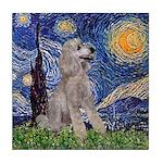 Starry / Std Poodle (s) Tile Coaster