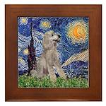 Starry / Std Poodle (s) Framed Tile