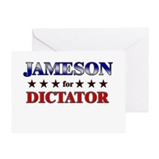 JAMESON for dictator Greeting Card