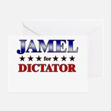 JAMEL for dictator Greeting Card