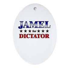 JAMEL for dictator Oval Ornament