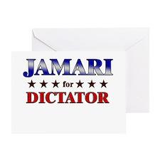 JAMARI for dictator Greeting Card