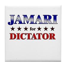 JAMARI for dictator Tile Coaster