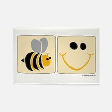 Bee Happy Rectangle Magnet