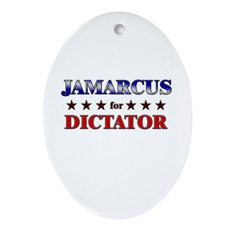 JAMARCUS for dictator Oval Ornament