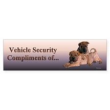 Shar Pei Puppies Bumper Bumper Sticker