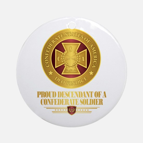Proud Descendant Round Ornament