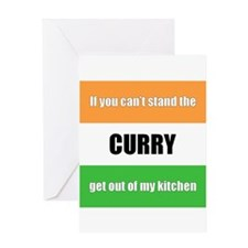 Cooking with Curry Greeting Card