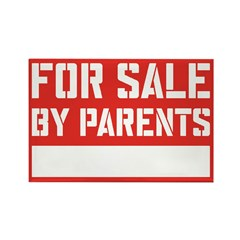 For Sale By Parents Rectangle Magnet