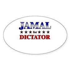 JAMAL for dictator Oval Decal