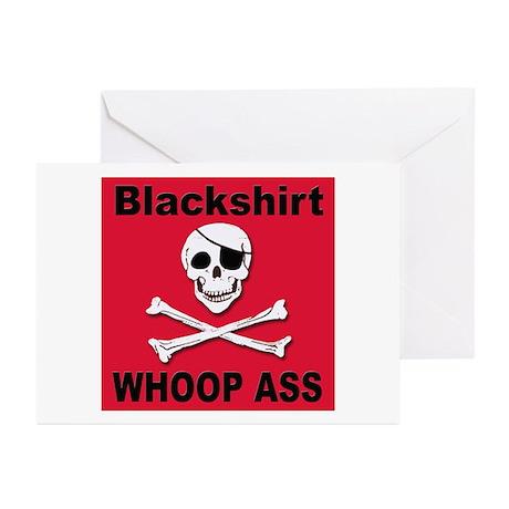 Nebraska Blackshirt Whoop Ass Greeting Cards (Pack