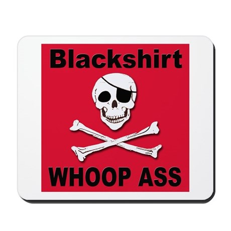Nebraska Blackshirt Whoop Ass Mousepad