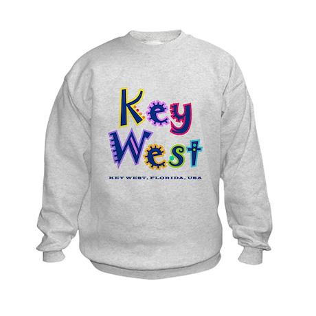 Key West Tropical Type - Kids Sweatshirt