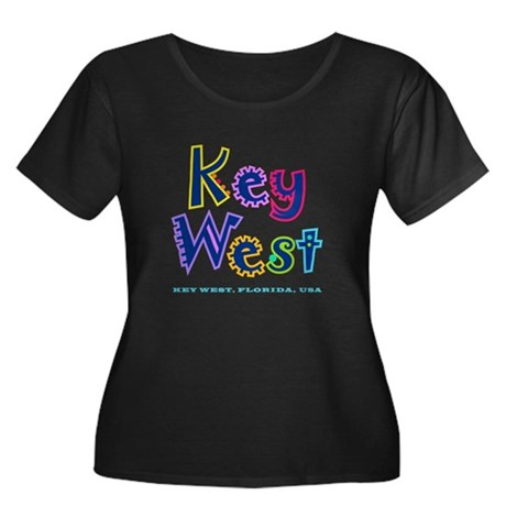 Key West Tropical Type - Women's Plus Size Scoop N