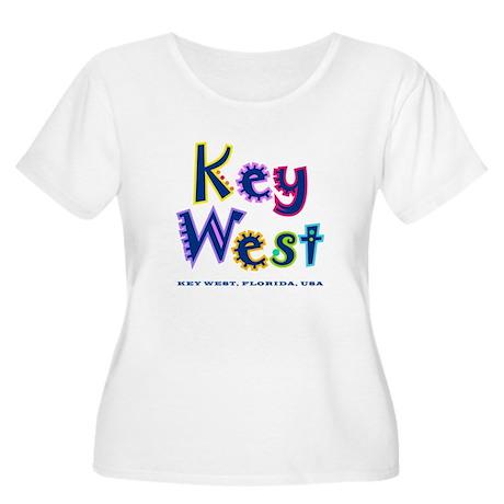 Key West Tropical Type - Women's Plus Size Scoop