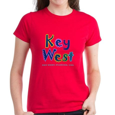 Key West Tropical Type - Women's Dark T-Shirt
