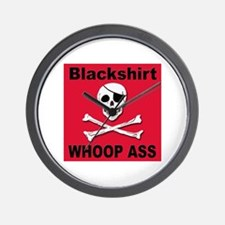 Nebraska Blackshirt Whoop Ass Wall Clock