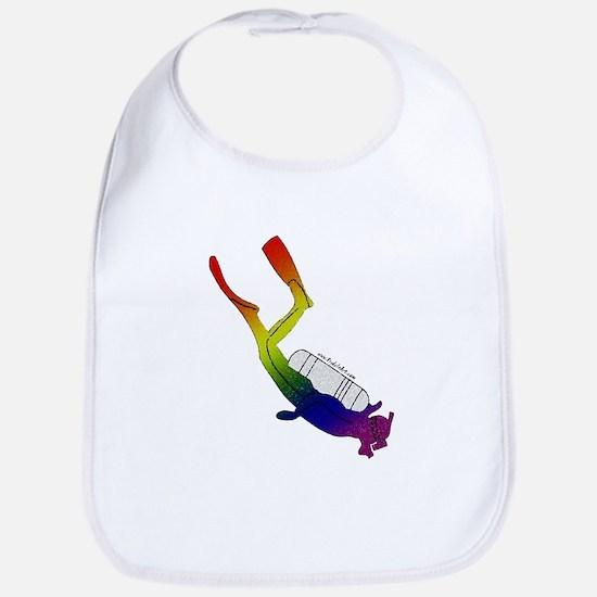 Rainbow Pride Scuba Diver Bib