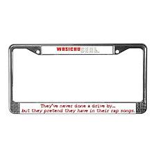 Wasichu Seal License Plate Frame