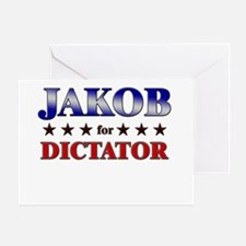 JAKOB for dictator Greeting Card